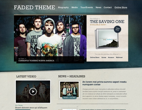 12 best WordPress Themes for Musicians images on Pinterest