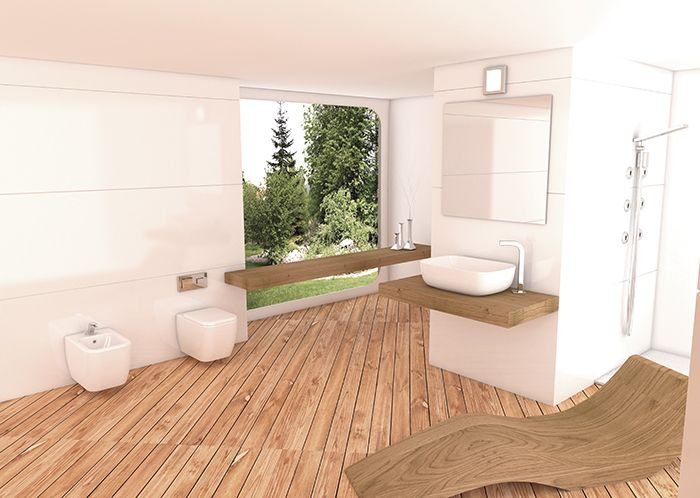 Sanitari filo muro sospesi con copriwc in varie versioni - Arredo bagno stile spa ...