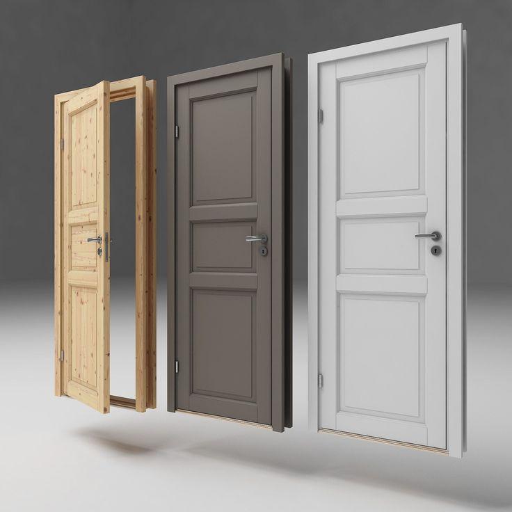 Innvendige dører fås i flere varianter ubehandlet, lakkert og hvitmalt.