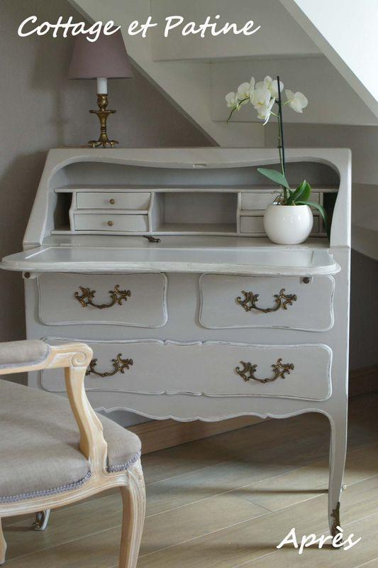 les 25 meilleures images du tableau meuble secr taire sur pinterest bureaux meubles anciens. Black Bedroom Furniture Sets. Home Design Ideas