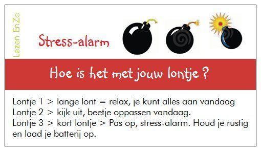 #Hulpkaartje > Stress-alarm Hoe is het met jouw lontje.