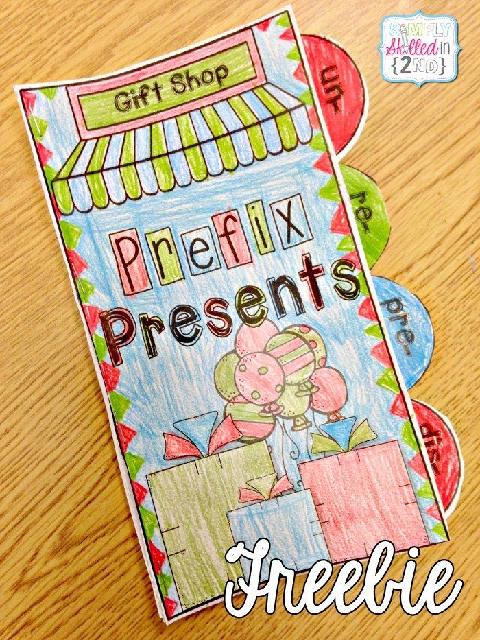FREE Printable Prefix Freebie booklet