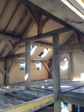 Oak Frame with Sips panels by Castle Ring Oak Frame #timberframe #sustainable #building