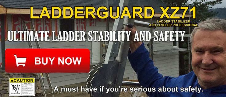 The Ladder Guard PRO ZX71 Extension Ladder Stabilizer and Leveler - prevent outward slip by increasing the base of your ladder and significantly reduces the chance of a sideways slip at the top. Using this product assists in turning  every day  extension ladders into safety ladders for use around the home or worksite.