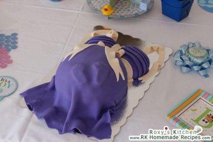 Pregnant Belly Cake - Gender Reveal Party / Tort Gravida