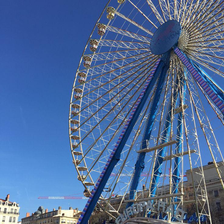 Ferris wheel at place Bellecour Lyon