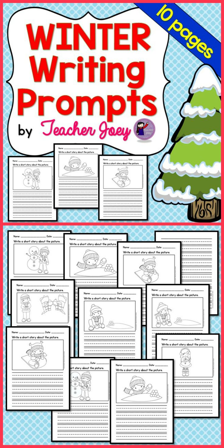 winter writing prompts kindergarten Writing prompts are a great addition to a literacy center this packet contains 20 separate writing prompt worksheets about winter children can draw and write their answers using phonetic spelling.