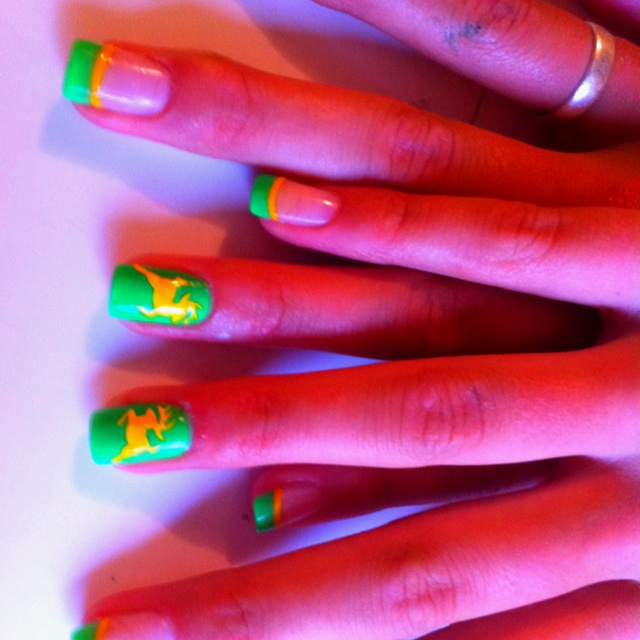 John Deere party nails for mommy! * if I can grow them out by July for Axton's party
