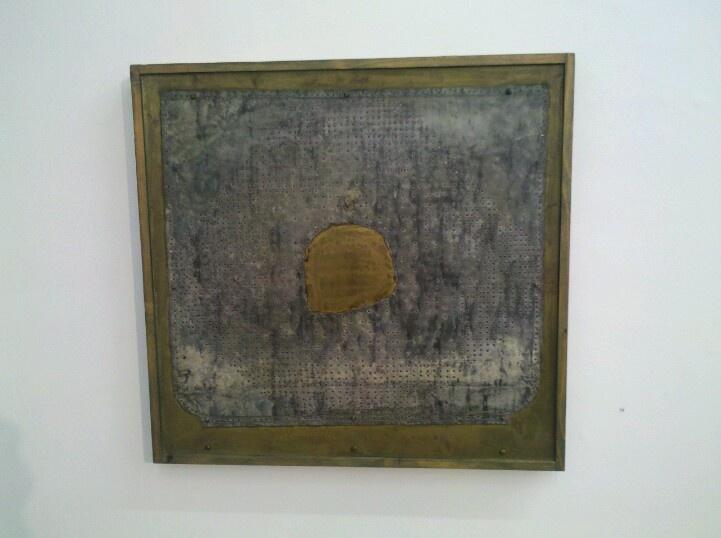 Zbynek Sekal: o.T. , 1988 aus Eisen,Messing,Holz,Beize