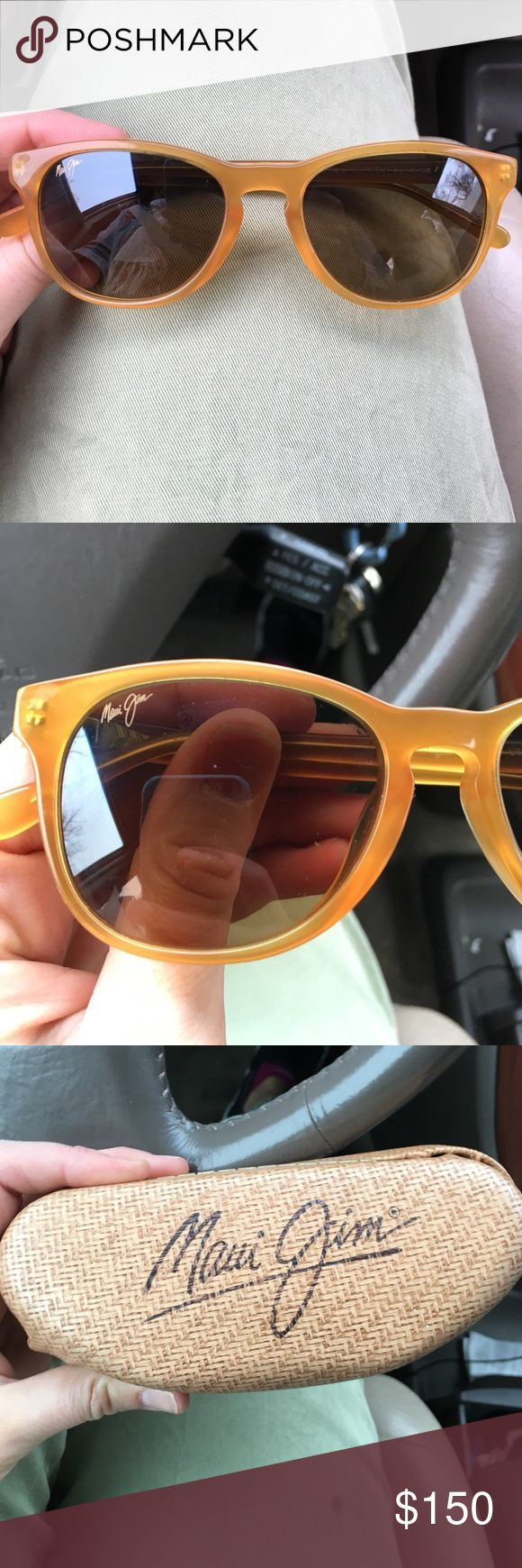Maui jims honey colored shades These are in perfect shape, fit beautifully, and Maui jims so highest quality Maui Jim Accessories Sunglasses