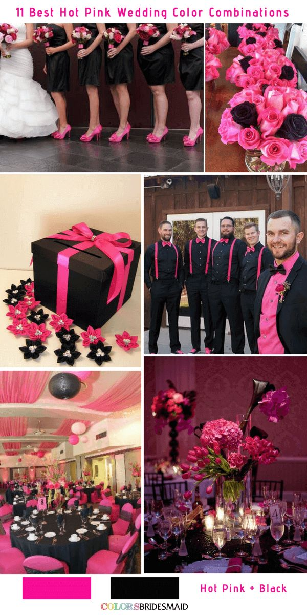 11 Best Hot Pink Wedding Color Combinations Ideas Pink