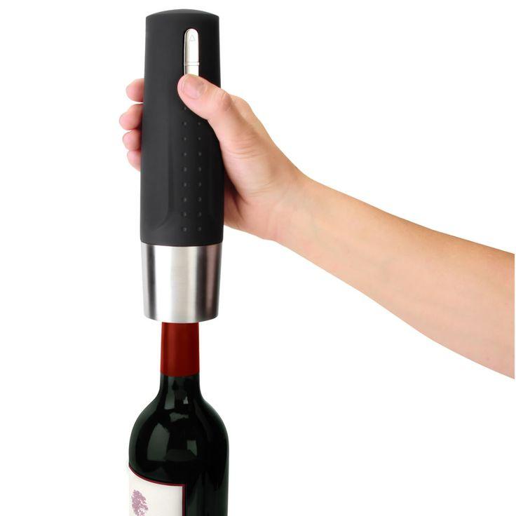 the best electric wine opener hammacher schlemmer this electric wine opener earned the best. Black Bedroom Furniture Sets. Home Design Ideas