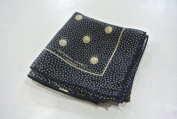 Katherine Hamnett London Polka Dot Silk Handkerchief