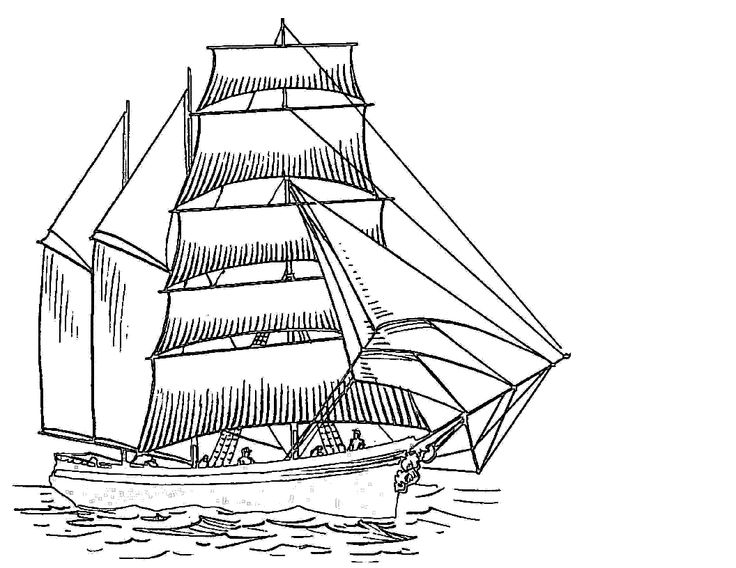 google coloring book pages boats-#4