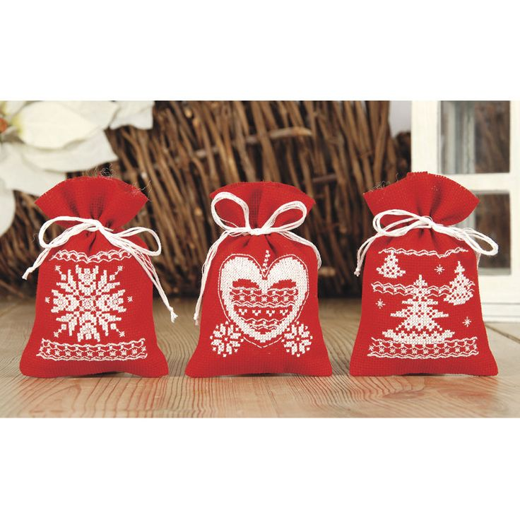 Christmas Gnome Counted Cross Stitch Sachet Set - Cross Stitch, Needlepoint, Embroidery Kits – Tools and Supplies