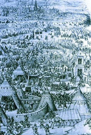 The Muslim advance in Central Europe, was halted at Vienna in 1529.
