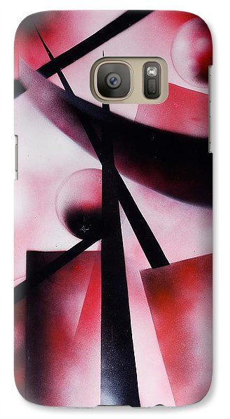 X-world Galaxy S7 Case Printed with Fine Art spray painting image X-world by Nandor Molnar (When you visit the Shop, change the orientation, background color and image size as you wish)
