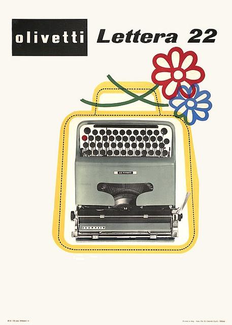 Olivetti Lettera 22 Poster designed by Giovanni Pintori for the Olivetti Lettera 22 - 1950