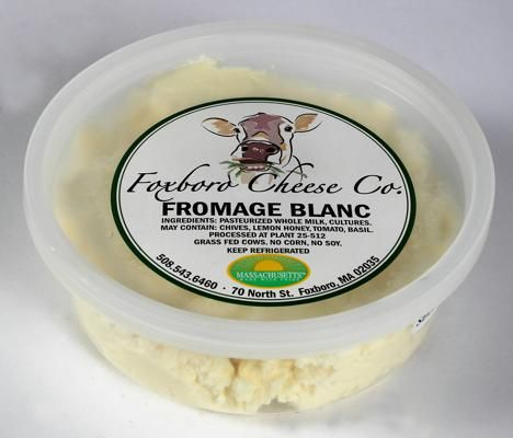 Fromage blanc, Foxboro Cheese Co.: This light, creamy cheese has a buttery and slightly citrus taste. Seasonal flavors include plain, chives, maple, garlic, and lemon honey.: Artisan Products, Lemon Honey, Citrus Tasting, Includ Plain, White Cheese, Eastern Massachusetts, Foxboro Cheese, Creamy Cheese, Flavored Includ