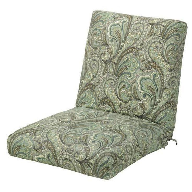 Beautiful Home Decorators Collection Marona Latte Outdoor Dining Chair Cushion 1573110680    The Home Depot
