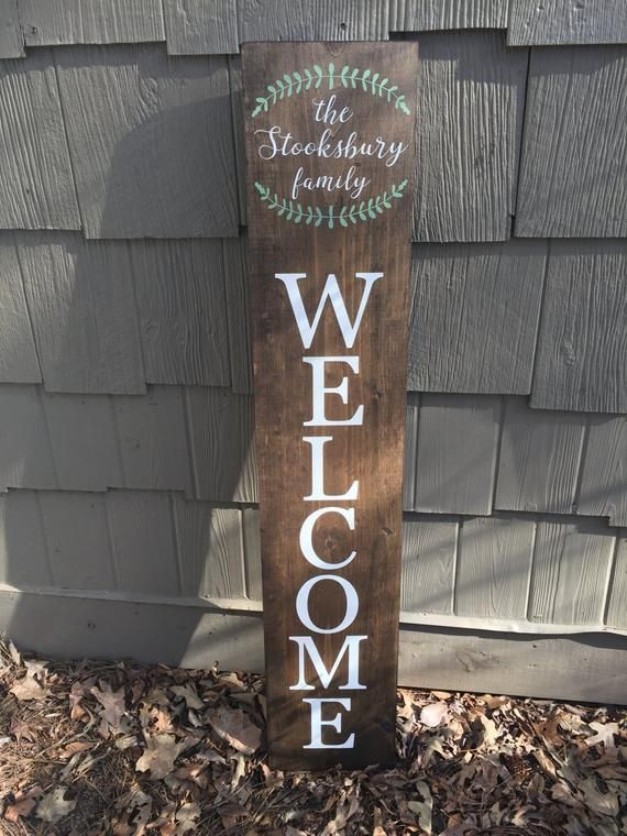 Large Welcome Welcome Sign Personalize Your Sign Welcome Etsy Welcome Home Signs Porch Signs Outdoor Welcome Sign