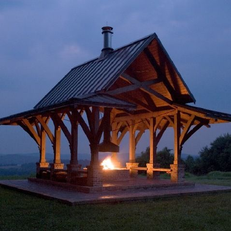 Outdoor Pavilions Design Ideas Pictures Remodel And Decor Page 4 Pavillion W Fireplace