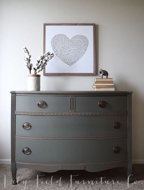 Painted Furniture Makes a Statement  Blue Painted DressersPainting DresserDresser  Decor. 25  Best Ideas about Decorating Dressers on Pinterest   Dresser
