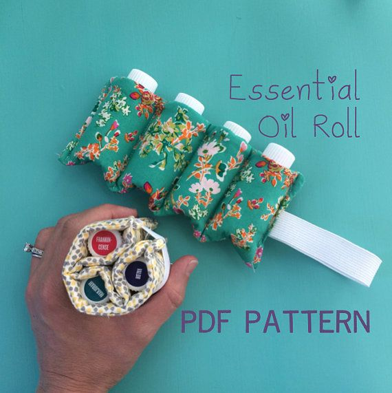 A simple, quick, and fun pattern to make your own essential oil travel case! This pattern is for a four-bottle carrier, but I include