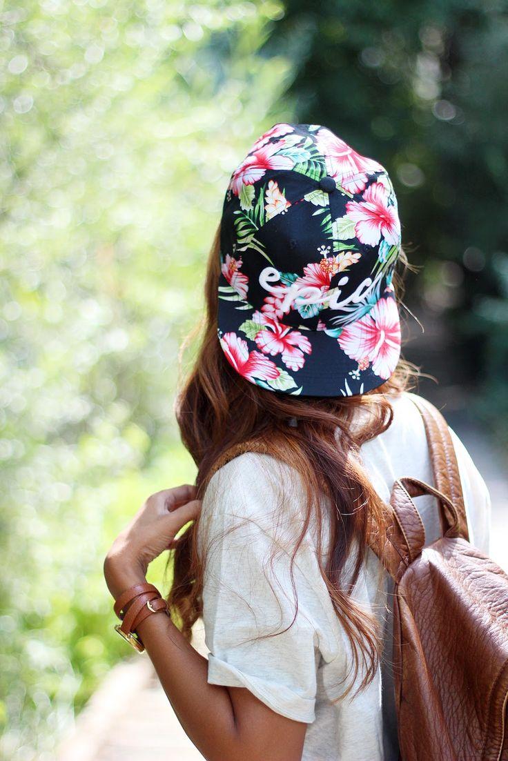 floral snapback hat @zerouv