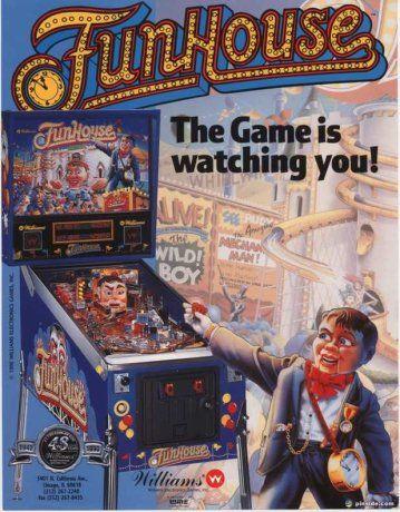 FunHouse Pinball Machine (Williams, 1990) | Pinside Game Archive