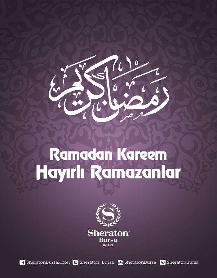 Sheraton Bursa ailesi olarak herkese hayırlı ramazanlar dileriz!   Ramadan Kareem to all of you!   #sheratonbursa #ramazan #ramadan #betterwhenshared