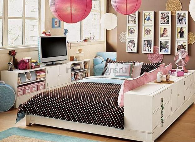 kids furniture placement ideas and interior colors for children bedroom design and decorating