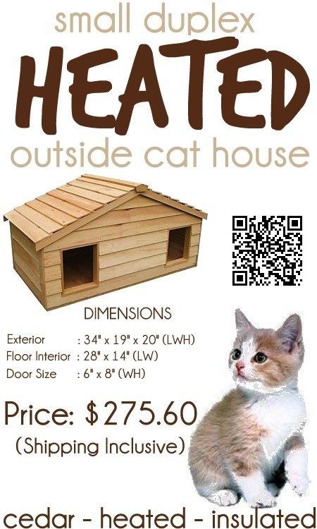 best 25 heated outdoor cat house ideas on pinterest. Black Bedroom Furniture Sets. Home Design Ideas