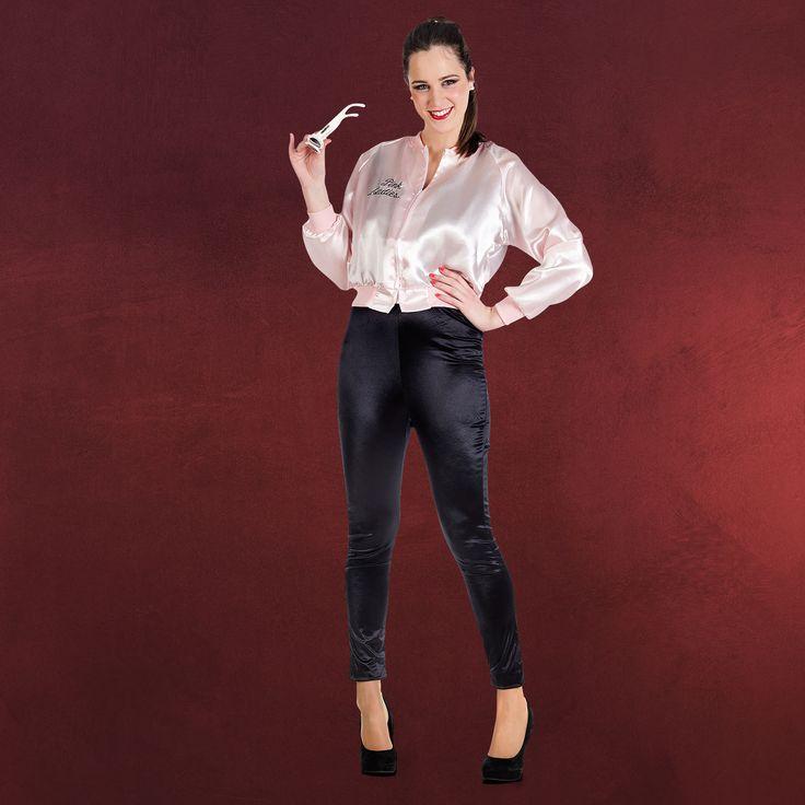 Grease Pink Ladies Jacke - Kostüm Damen in M