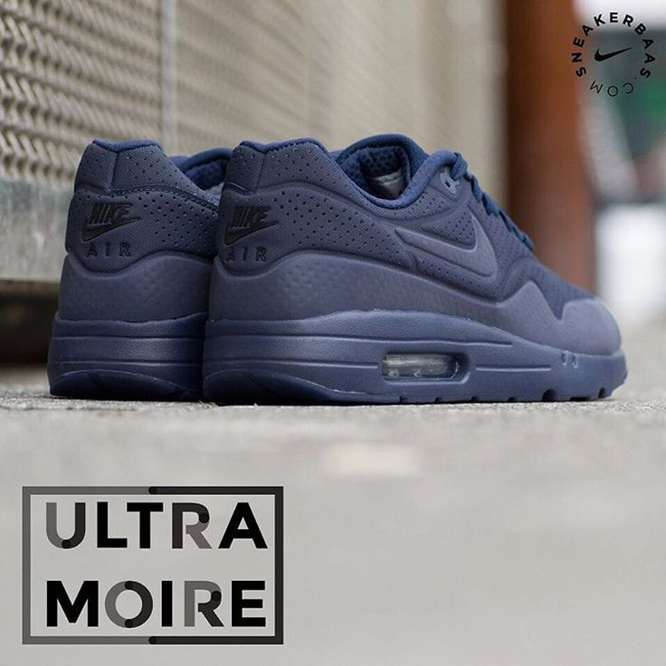 #nike #nikeair #airmax1 #ultramoire  Nike Air Max 1 Ultra Moire - The Nike Air Max 1 is one of the most reconizable en reknowned designs by Nike because of its unique looks and Air unit in the midsole.  This Ultra Moire edition features a cool, navy colorway which clothes the whole sneaker.