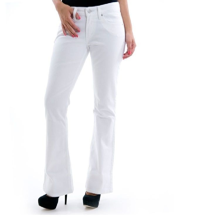 Levi's 518 jeans bootcut white relaxed mid rise juniors size 11 ...