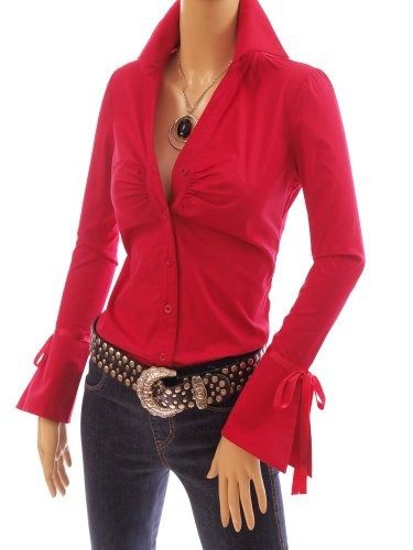 Womens Red Shirts Blouses Photo Album - Reikian