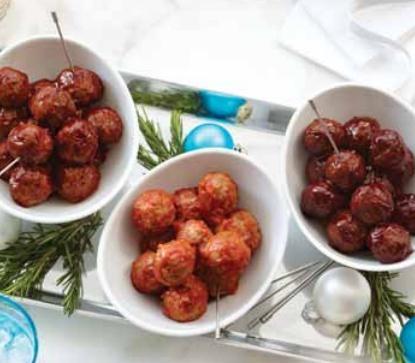 Mini meatballs a plenty