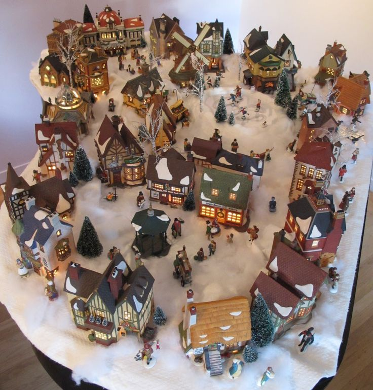 Christmas Village Fun Blog: My Own Department 56 Dickens Village Display-2011