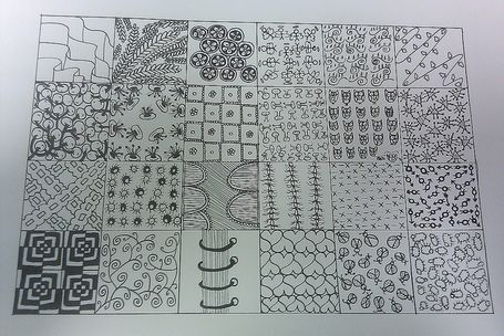 Free Zentangle How To Patterns | Zentangle sampler 2 | Artistic Line Designs-all free | Scoop.it
