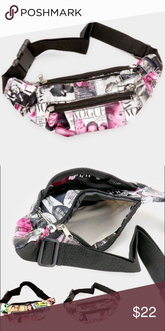 """Magenta Blend Magazine Vogue Magazine Fanny Pack • Size : 4.25"""" H  • Adjustable • Other style options available A Mermaid's Epiphany Bags"""