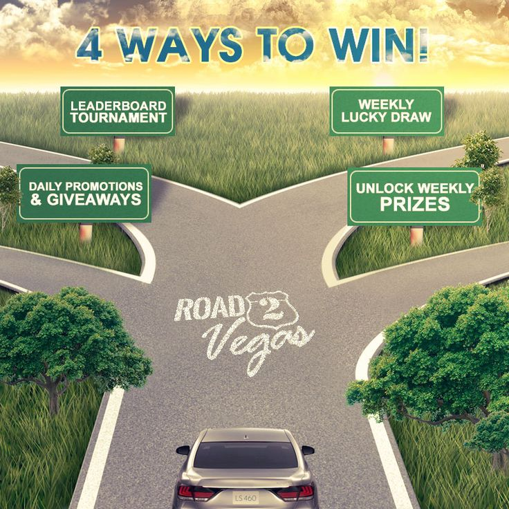 There are ways to win during Road2Vegas. Which route have you tried?