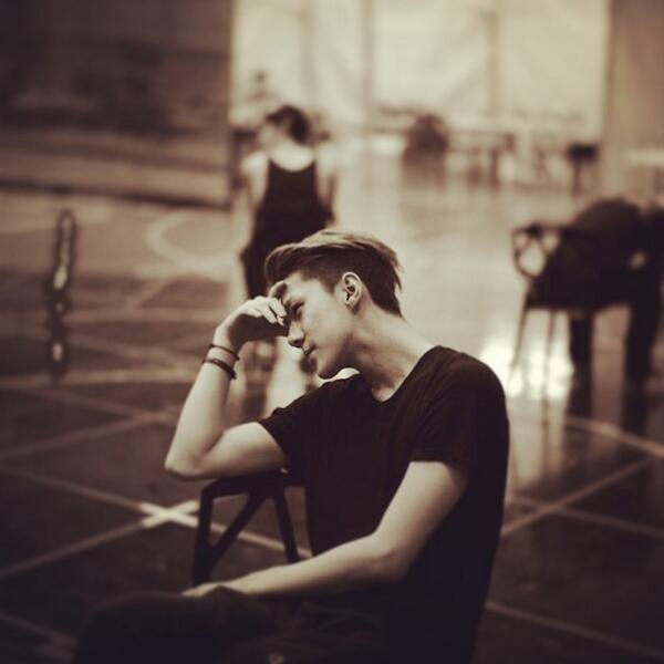 SEHUN from beatburgerjae ins : Moonlight Rehearsal Leica M9