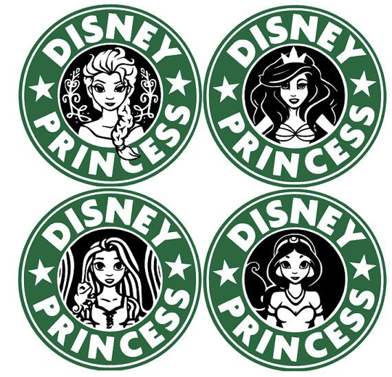 Disney Princess Starbucks Decal by SimpleNChicBoutique on Etsy