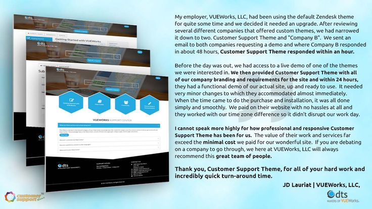 One of our best customers testimonial regarding our services. http://customersupporttheme.com/#testimonial +Zendesk +Zendesk Chat +Zendesk Brasil +Google +Zendesk +Zendesk Chat (formerly Zopim)  +CustomerSupportTheme #zendesk #zendes_theme #zendesk_help_center #Zendesk_theme_branding #branding_customization #client_testimonial #zendesk_clients #Customer_support_theme_clients #our_happy_customers #what_our_client_says
