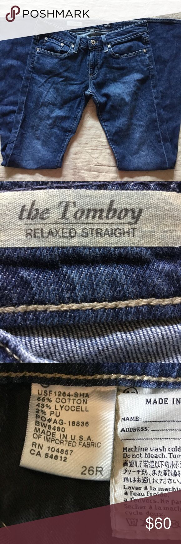"AG - Adriano Goldschmied ""the Tomboy"" jeans, AG - Adriano Goldschmied ""the Tomboy"" Jeans, size 26.  Excellent condition! Ag Adriano Goldschmied Jeans"