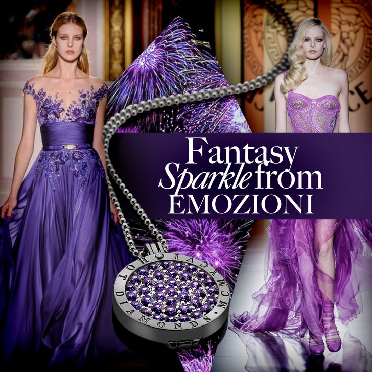#Purple #Fantasy #Sparkle #Rhodium #BlackRhodium #Necklace #Silver #SterlingSilver #Interchangeable #Coin #Jewellery #Jewelry #Emozioni #HotDiamonds #Style #Fashion