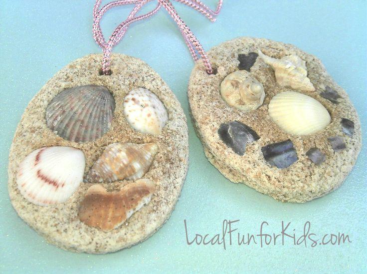 Easy seashell craft for kids camp pinterest salt for Seashell ornaments craft