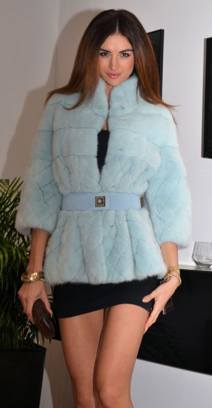 BRASCHI PASTEL ROYAL SAGA MINK FUR LONG JACKET LIKE COAT CHINCHILLA SABLE LYNX