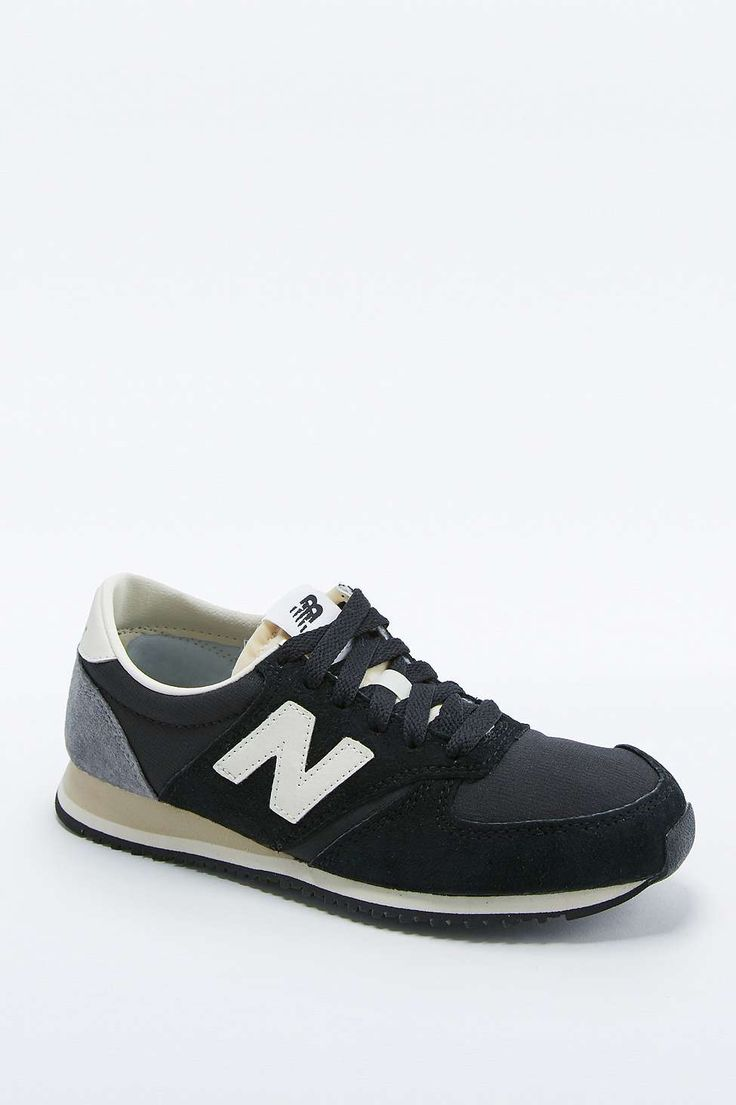 New Balance 420 Black Suede Trainers